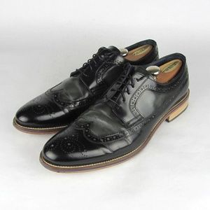 JOHNSTON & MURPHY Black Leather  Oxfords 14 M